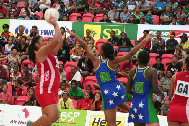 Tonga beat Solomon Islands 50-39 on Wednesday. Photo by Mindy Musaeus.