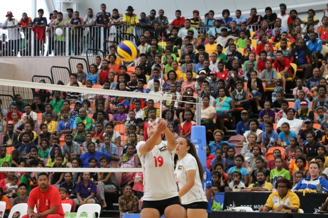 American Samoa won a gripping women's volleyball gold medal match. Photo by Daure Lota.