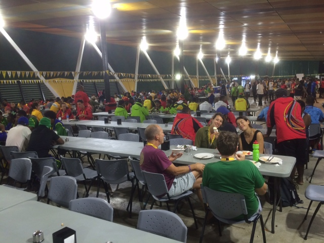 3000 athletes and officials are fed at the athletes' village food hall every meal. Photo by James Cowling