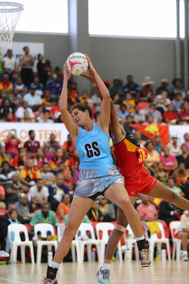 Taraima Mitchell led Fiji to a netball gold medal on Saturday. Photo by Susie Pini.