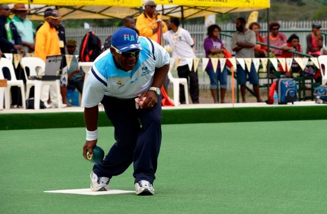 Semesa Naiseruvati (FIJ) won gold in the men's singles. Photo by Olga Fontanellaz.