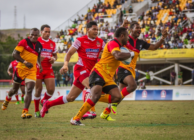 PNG hope to take rugby league 9s gold on Sunday. Photo by Dave Buller.