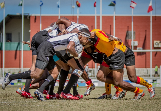 Fiji started its rugby 7s campaign with a win over Papua New Guinea at the BSP Stadium on Wednesday. Photo by Dave Buller.